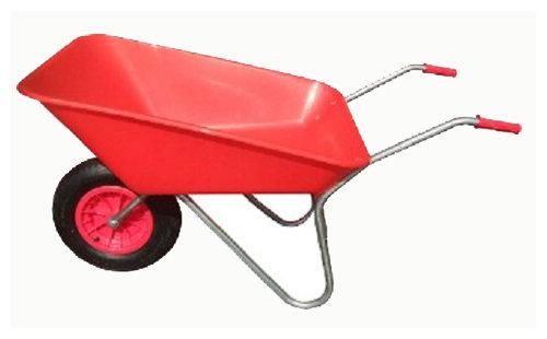85L Red Plastic Wheelbarrow