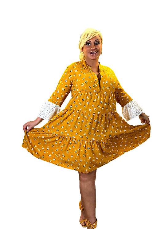 Vestido Mao amarillo cheddar.
