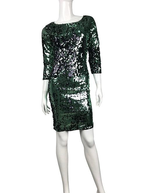 Vestido shinny verde