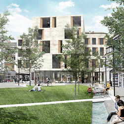 Nabe architecture, urban square, Plaza de Espana, Geinzer Lopez Arahuetes, Berlin, concurso