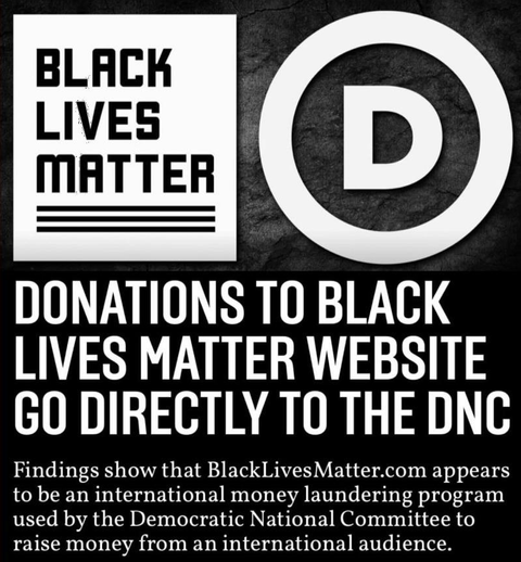 Exposed: Black Lives Matter Is A Money Laundering Front For The Dirty Democratic DNC Swamp