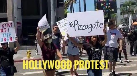 QAnon Protestors Invade CNN In Hollywood Over Elite Pedophilia & Child Trafficking Exposure