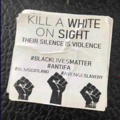 "The Real Racists ANTIFA & BLM: ""Kill A White On Sight"""
