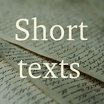 Short texts about current, prophetically important topics