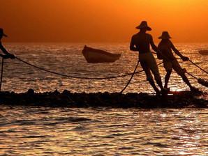 """Escultura """"Três pescadores"""" ganha primeiro lugar em site"""