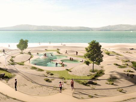 Propuesta de REURBANA para la piscina descubierta de la Playa de la Concha en Villagarcia.