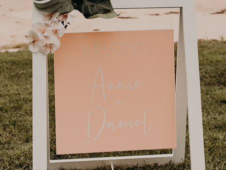 Annie & Daniel Wedding Styling details