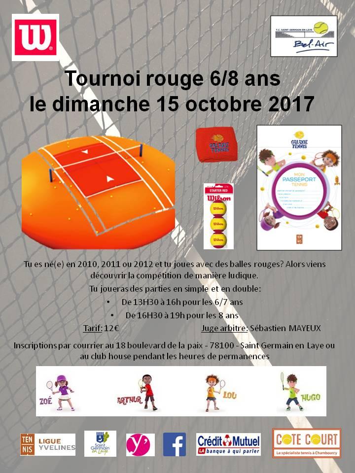 TOURNOI ROUGE LE DIMANCHE 15/10/2017