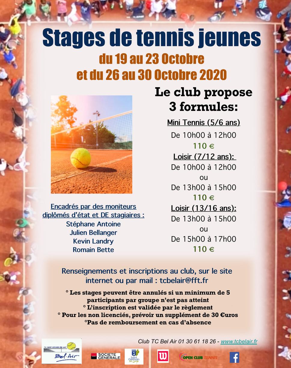 Stages Jeunes Toussaint 2020