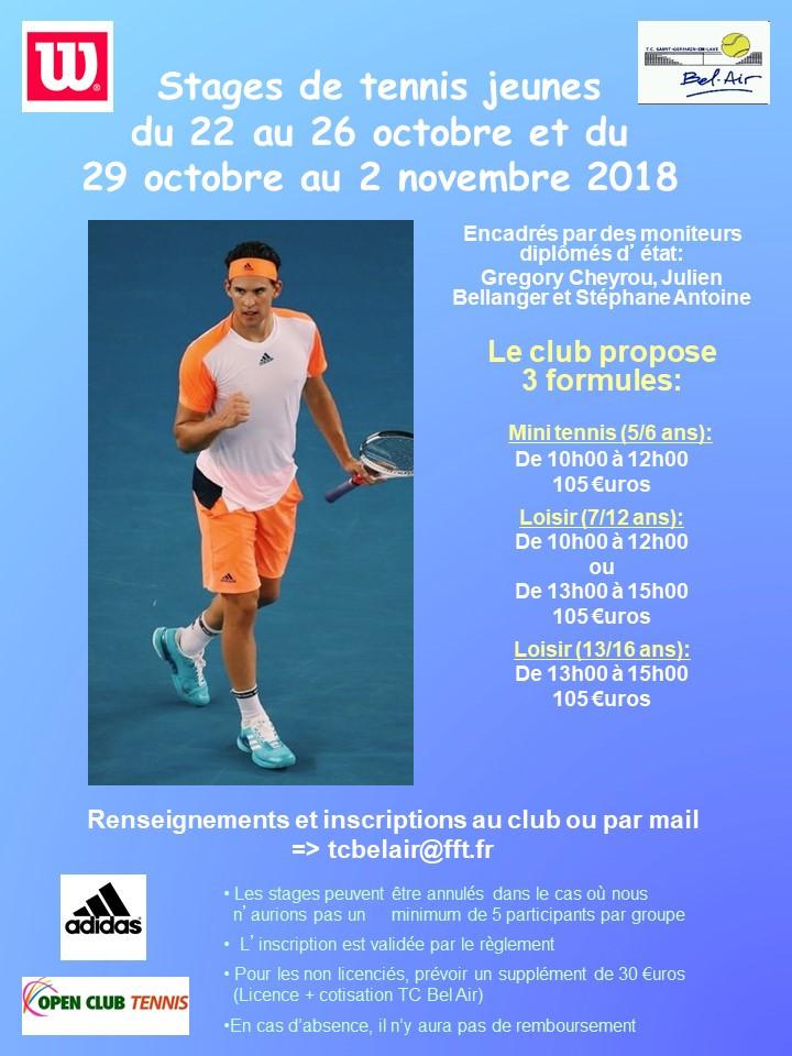 Stages Jeunes Toussaint 2018