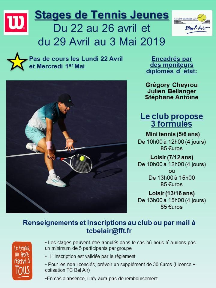 Stages Jeunes Pâques 2019