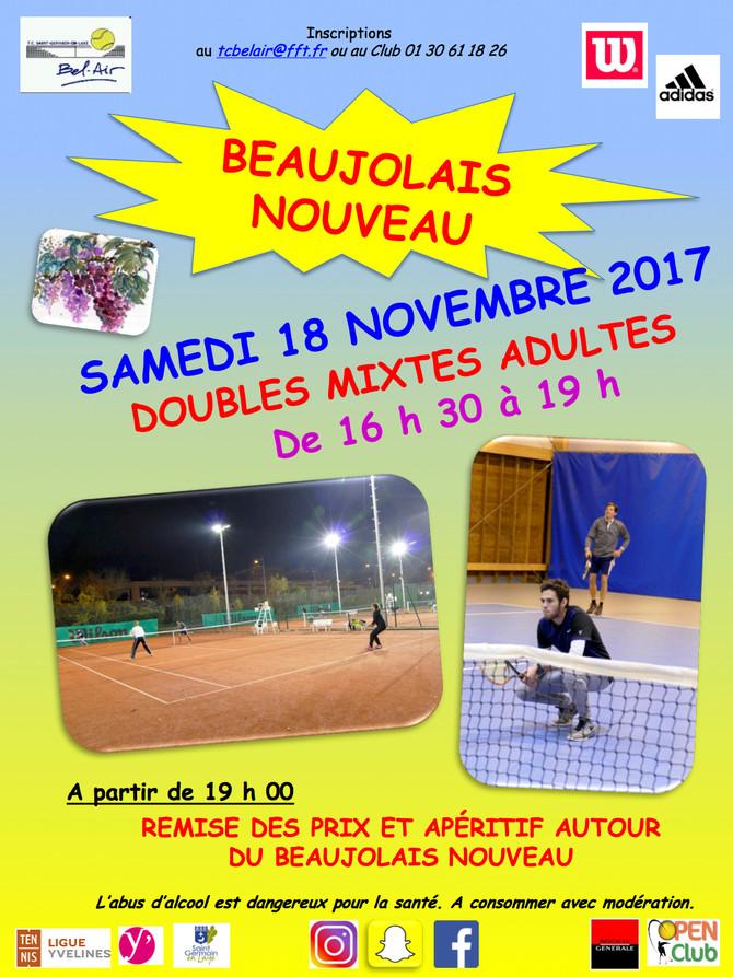 "ANIMATION ""BEAUJOLAIS NOUVEAU"" LE SAMEDI 18 NOVEMBRE 2017"