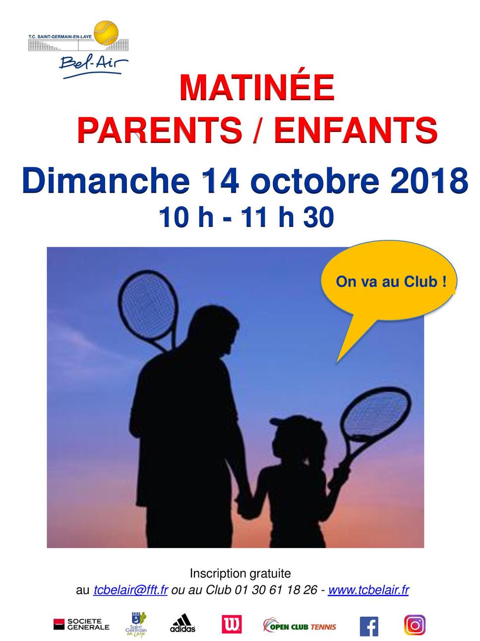Matinée Parents/Enfants le dimanche 14 octobre 2018