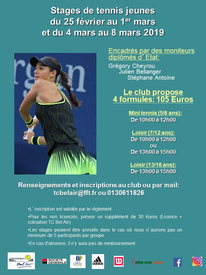 Stages Jeunes Hiver 2019