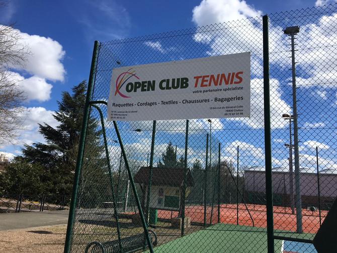 OPEN CLUB CHATOU : PARTENAIRE TENNIS