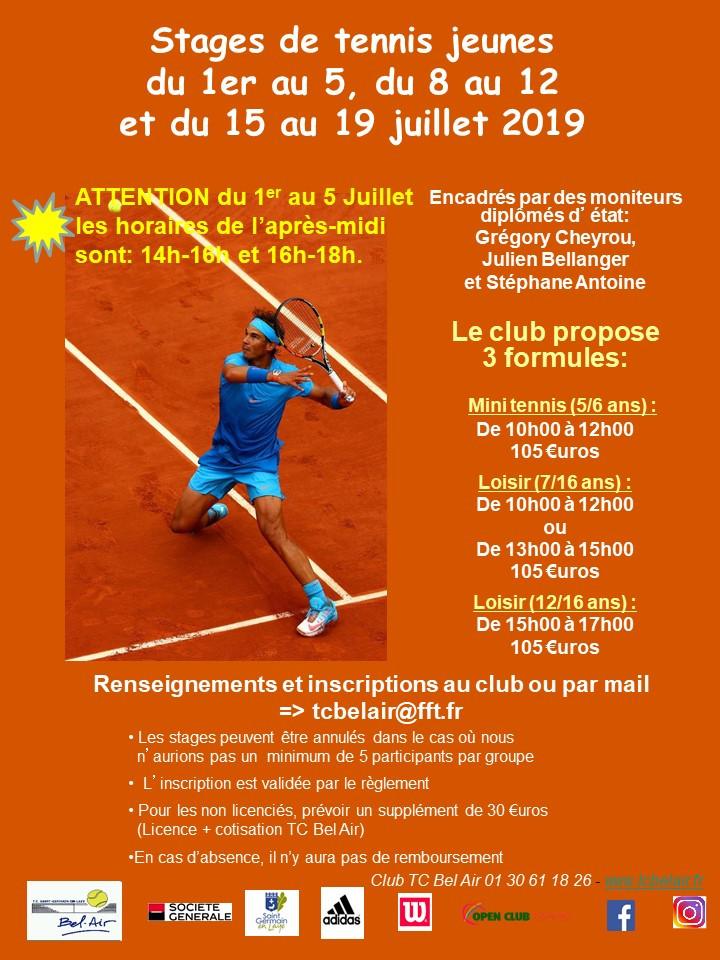 Stages Jeunes juillet 2019