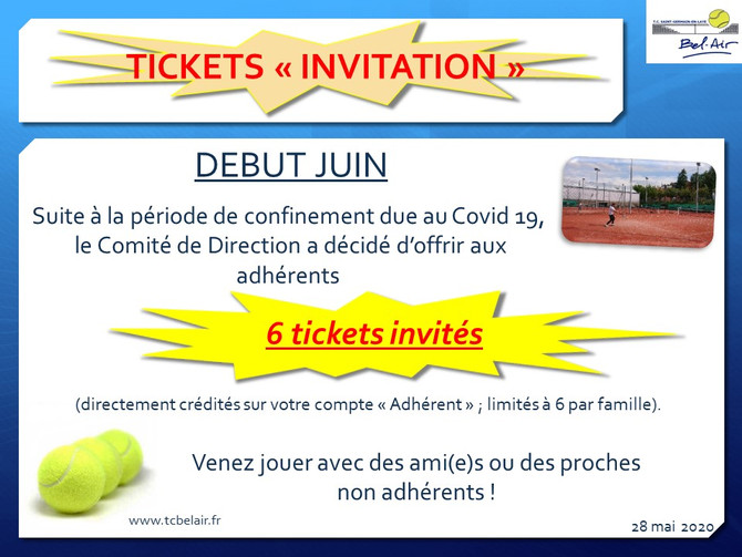 Invitations offertes