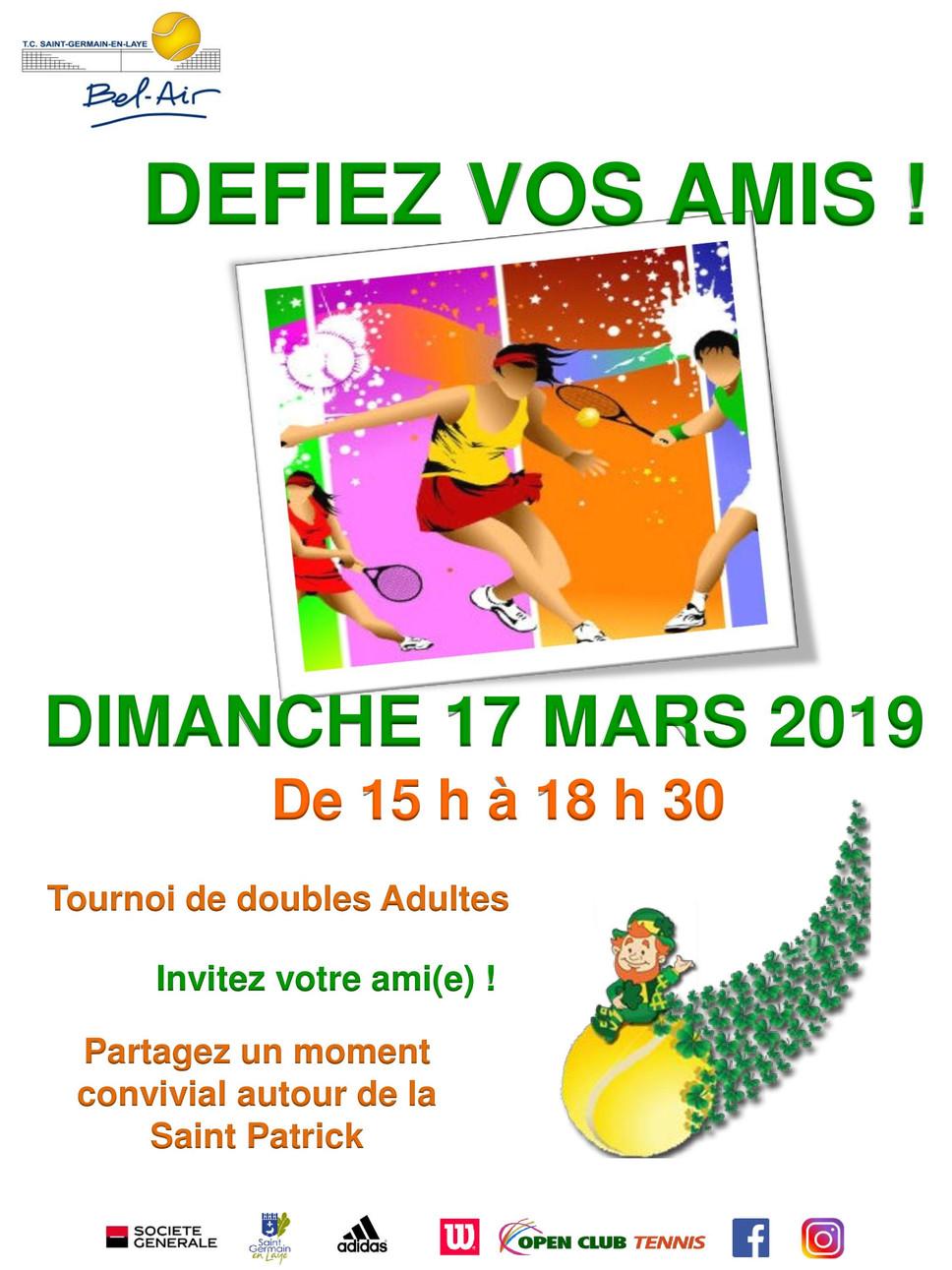 """Animation """"Défie tes amis"""" le dimanche 17 mars 2019"""