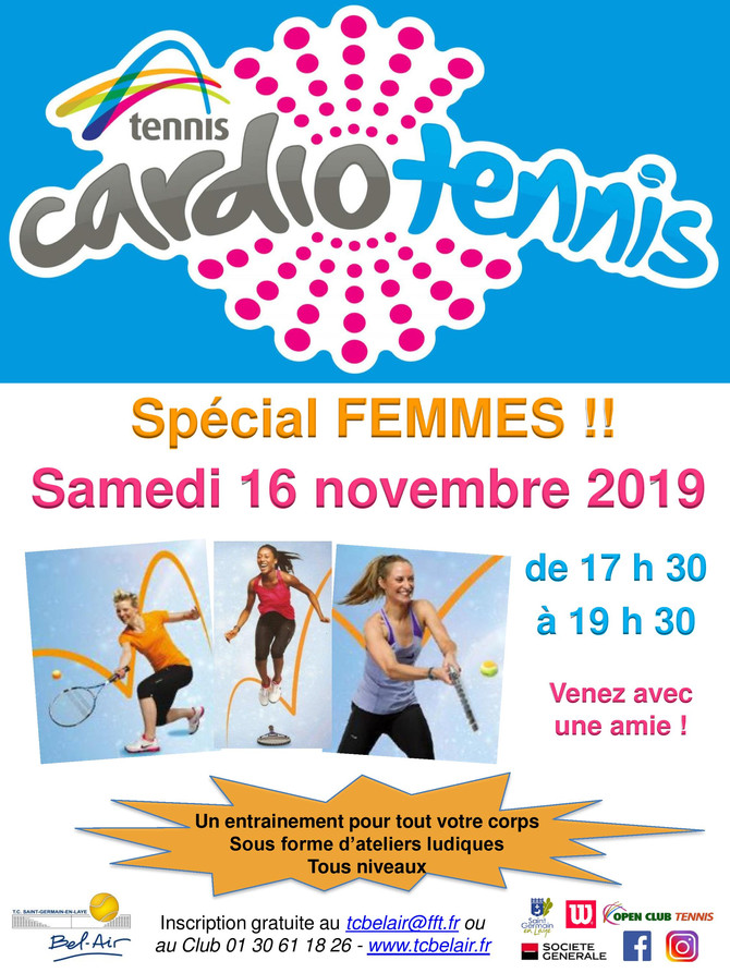 Animation Cardio-Tennis le samedi 16 novembre 2019