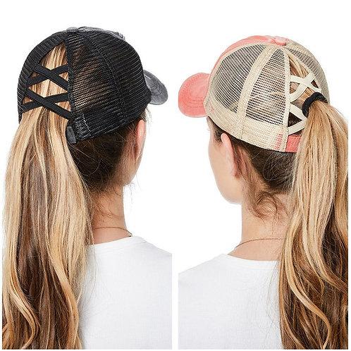Adjustable Ponytail Baseball Hat