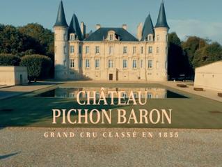 """Publicité pour le Prestigieux Château Bordelais """"Pichon Baron"""""""