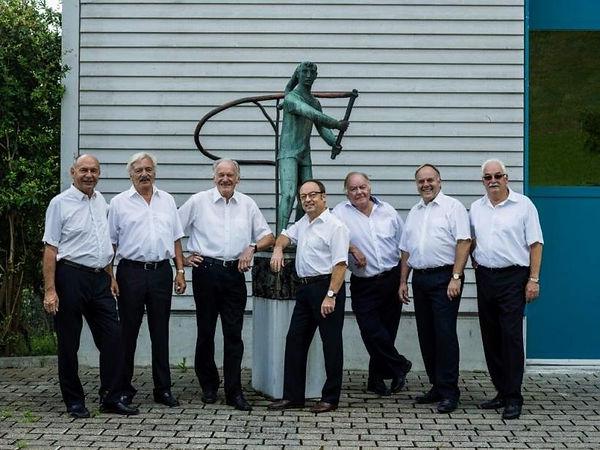 Sieben Ehrenzunftmeister beisammen