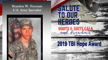 "2019 ""Salute to Our Heroes"" TBI Hope Award Recipient"