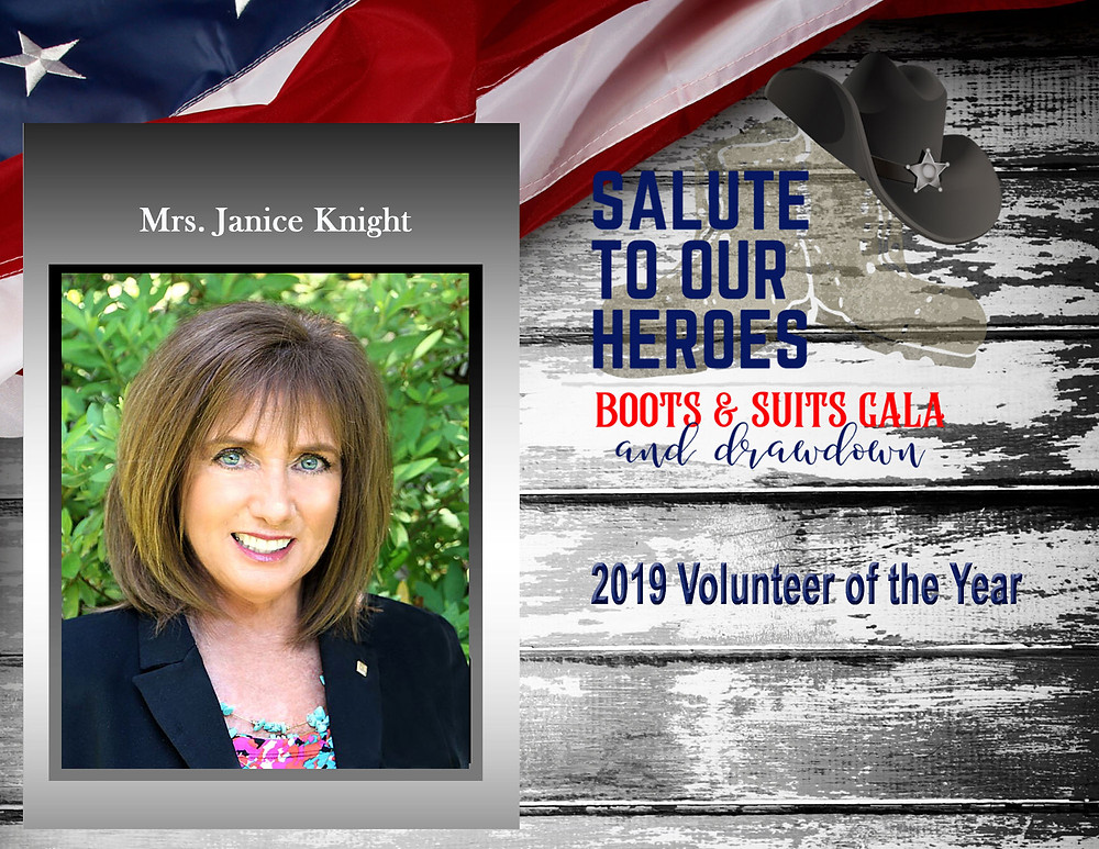 Mrs. Janice Knight - 2019 Volunteer of the Year