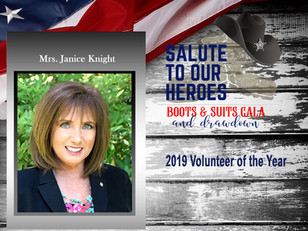 """2019 """"Salute to Our Heroes"""" Volunteer of the Year Award Recipient"""