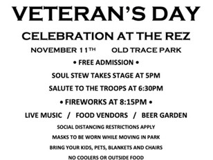 Veterans Day Celebration and Fireworks