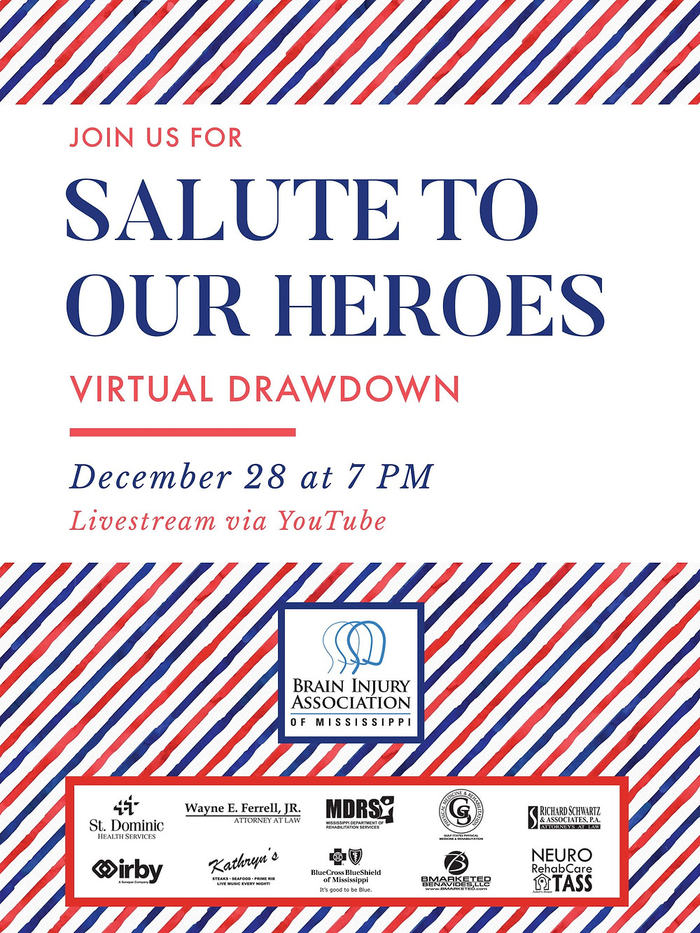 "2020 ""Salute to Our Heroes"" Virtual Drawdown"