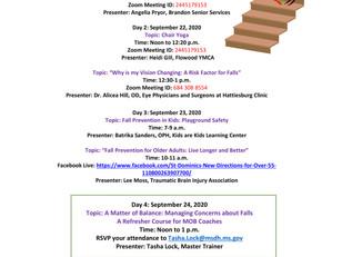 FALL PREVENTION AWARENESS WEEK – SEPTEMBER 21-25, 2020
