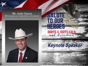 """2019 """"Salute to Our Heroes"""" Keynote Speaker – Commissioner Andy Gipson"""