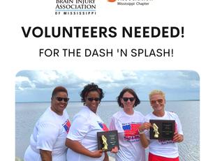 "SEEKING VOLUNTEERS for ""Dash 'N' Splash"" Race for Brain & Spinal Cord Injury"