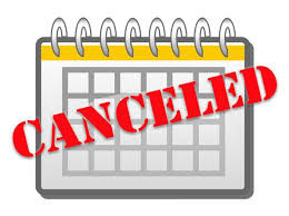 BIA of MS cancelled events and meetings