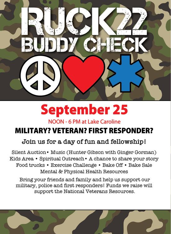 THIS SATURDAY!      Ruck22 - Buddy Check