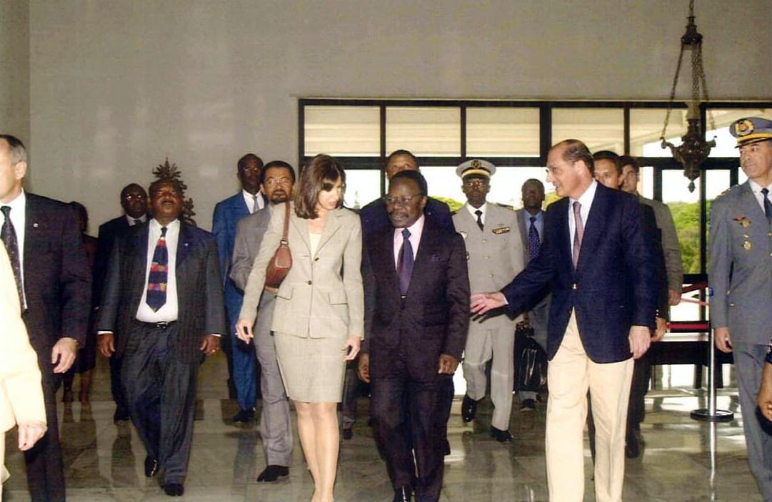 Acompanhamento do presidente do Gabão Omar Bongo  Governador Geraldo Alckmin SP/2002  Visite du Président du Gabon Omar Bongo Gouverneur Geraldo Alckmin