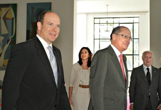 Visita oficial do Príncipe Albert II de Mônaco Governador Geraldo Alckmin  SP/2011  Visite officielle du Prince Albert de Monaco Gouverneur de l'État de São Paulo Geraldo Alckmin