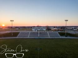 High School Football at Dusk