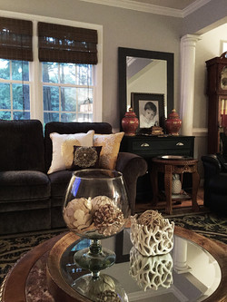 Den with Textural Accents