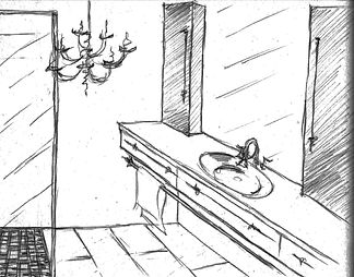 Hand Sketch Candis Noble Interior Design
