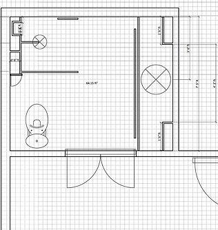 E-Design Floorplan, Layout, Interior Design Bathroom