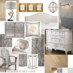 """Midnight Seascape"" Bedroom Concept"