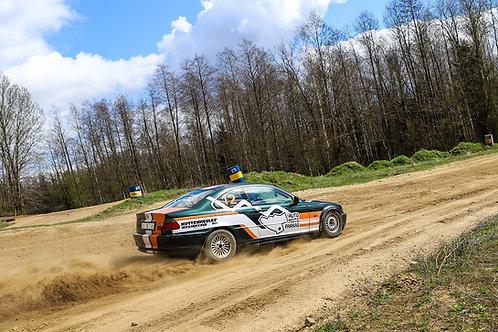 Sportinio ralio automobilio vairavimas su instruktoriumi (12 km)