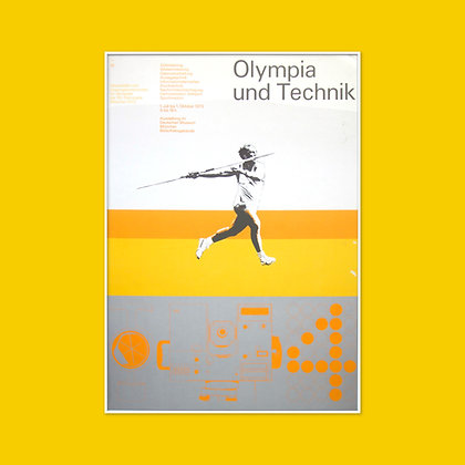A0 Olympics and Technology Exhibition Poster