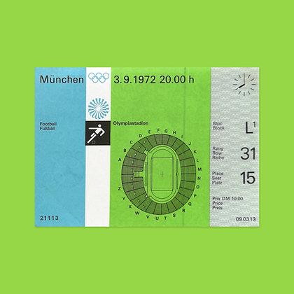 Unused Football (Soccer) Ticket
