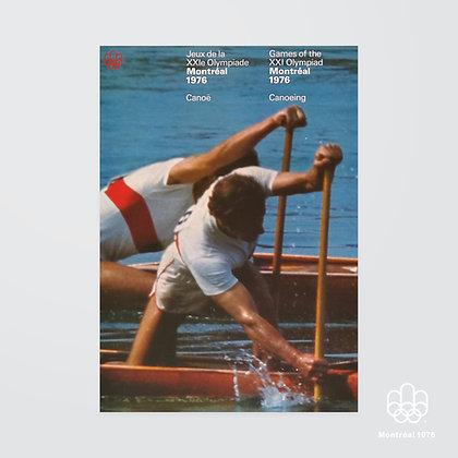 A2 Montréal 1976 Canoeing Poster