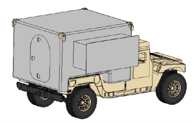 JLTV-JETS Design Mounted on HMMWV Platfo