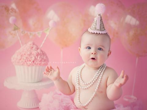1st birthday cake girl