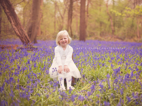 bluebell photography session, family portrait photographer East Sussex